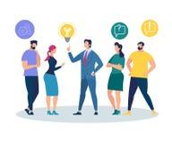 Folk som lyssnar och påverkar varandra med affärsmannen vektor illustrationer