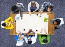 Folk som möter arbetsarbetsplatsen Team Concept Arkivfoto