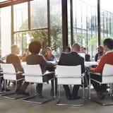 Folk som möter företags teamworkbegrepp för kommunikation Arkivfoto