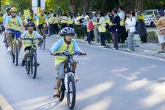 Folk som rider cykeln runt om den Chiang Mai staden Royaltyfri Bild