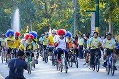 Folk som rider cykeln runt om den Chiang Mai staden Arkivbilder