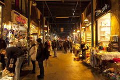 Folk som shoppar i kryddabasaren Fotografering för Bildbyråer