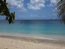 Folk som spelar i det karibiska havet arkivfilmer