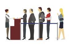 Folk som står i en ro Stock Illustrationer