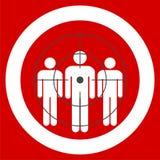 Folk som står, röd riktad konsument vektor illustrationer