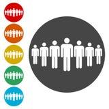 Folk som står, riktad konsument stock illustrationer
