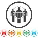 Folk som står, riktad konsument vektor illustrationer
