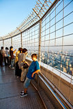 Folk som tycker om sikt över Bangkok Royaltyfri Bild