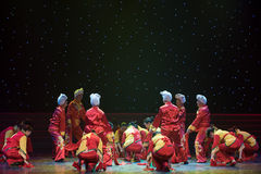 Folk song of northern shaanxi-Chinese folk dance Royalty Free Stock Photo