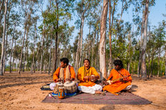 Folk song performance by Baul singers Stock Images