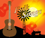Folk Songs Indicates Ethnic Music And Ballards Stock Image