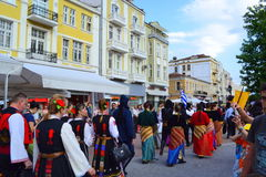 Folk street Parade,Plovdiv,Bulgaria Stock Image