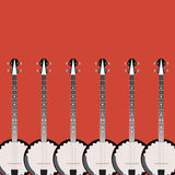 Folk string instrument banjo on a colored background Stock Photography