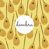 Folk string instrument dombra on a colored background Royalty Free Stock Photography