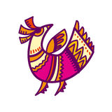 Folk style bird Royalty Free Stock Image