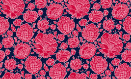 Folk-style floral decorative seamless pattern inspired by Ukrain Stock Photo