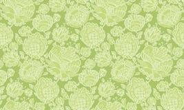 Folk-style floral decorative seamless pattern Royalty Free Stock Image