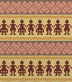 Folk style seamless color knitted pattern Stock Photo