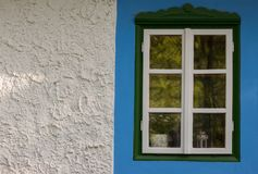 Folk styled fpainted window Royalty Free Stock Images