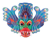 Folk Theatre Mask. Sri-Lankian (Ceylon) Folk Theatre Religious & Carnival Mask Isolated on white background (with clipping path Royalty Free Stock Photos