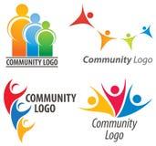 Folk tillsammans logo Royaltyfria Bilder