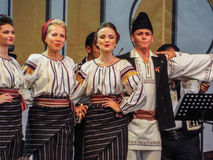 Folk traditional singers at Fair Bucharest 2016. Picture with  faimous singers of romanian traditional music at fair bucharest 2016, romanian tradition on the Stock Photos