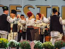 Folk traditional singers at Fair Bucharest 2016 Royalty Free Stock Photography