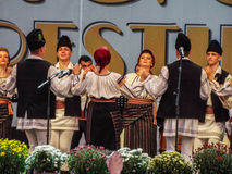 Folk traditional singers at Fair Bucharest 2016. Picture with  faimous singers of romanian traditional music at fair bucharest 2016, romanian tradition on the Royalty Free Stock Image