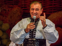 Folk traditional singers at Fair Bucharest 2016. Picture with  faimous singers of romanian traditional music at fair bucharest 2016, romanian tradition on the Stock Images