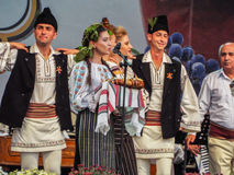 Folk traditional singers at Fair Bucharest 2016. Picture with  faimous singers of romanian traditional music at fair bucharest 2016, romanian tradition on the Stock Photography