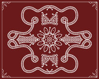 Folk, Tribal Design, Motif, Wall Painting Royalty Free Stock Image