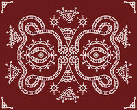 Folk, Tribal Design, Motif, Wall Painting Stock Photo