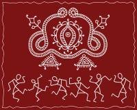 Folk, Tribal Design, Motif, Wall Painting Stock Photos