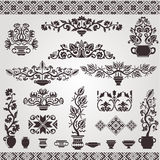 Folk ukrainian element vintage pettern silhouette. There are many folk ukrainian pattern elements stock illustration