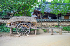 Folk Village,Traditional Korean style architecture in Suwon. Stock Photos