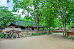 Folk Village,Traditional Korean style architecture in Suwon. Stock Images