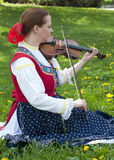 Folk violin player Stock Photos