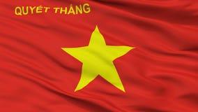 Folkarmé av sikten för Vietnam flaggaCloseup arkivbild
