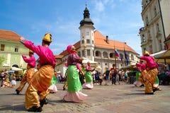 Folkart, festival prêté, Maribor images stock