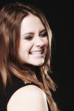 Folkbegrepp - framsida för danande för tonårs- flicka enfaldig arkivfoto