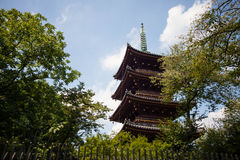 FolkbesökTosho-gu relikskrin på AUGUSTI 15, 2015 i Nikko, Japan Arkivfoto