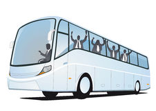 Folkbussfönster stock illustrationer