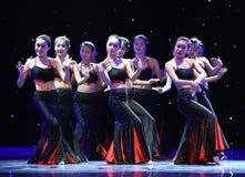 Folkdans för medborgare för dotterblomma-Dai Folk dans- Royaltyfria Bilder