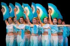 Folkdans: Fan Royaltyfri Foto