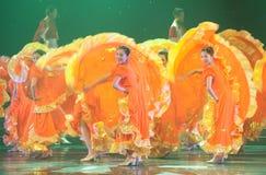 Folkdans: Flyga kjolen Royaltyfria Bilder