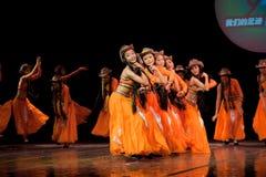 Folkdans: Karneval av den Mongoliet flickan Royaltyfria Bilder
