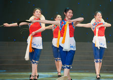 Folkdans: skäradans Royaltyfri Bild