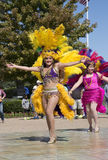 Folkdansshow Arkivfoto