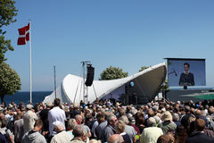 Folkemøde, die Öffnung Allinge 2015 Bornholm stockfotografie
