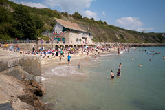 Folkestone beach. A view of the beach at Folkestone, Kent, Uk on a hot summer day Royalty Free Stock Image